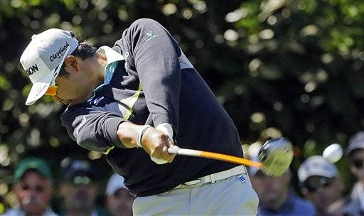 Jordan Spieth tees off on the 15th hole during the second round of the Masters golf tournament Friday, April 8, 2016, in Augusta, Ga. (AP Photo/David J. Phillip)