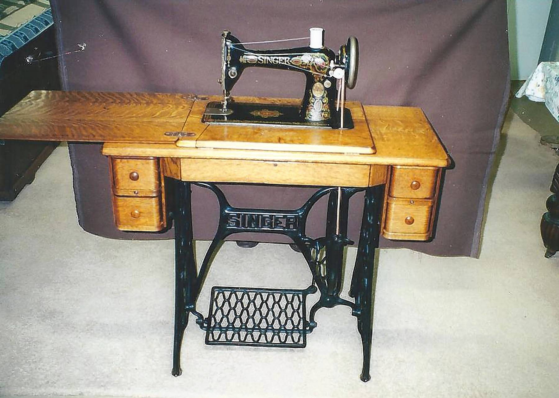 "Singer was the first to introduce the ""Zigzag"" machine and the first electronic machine."