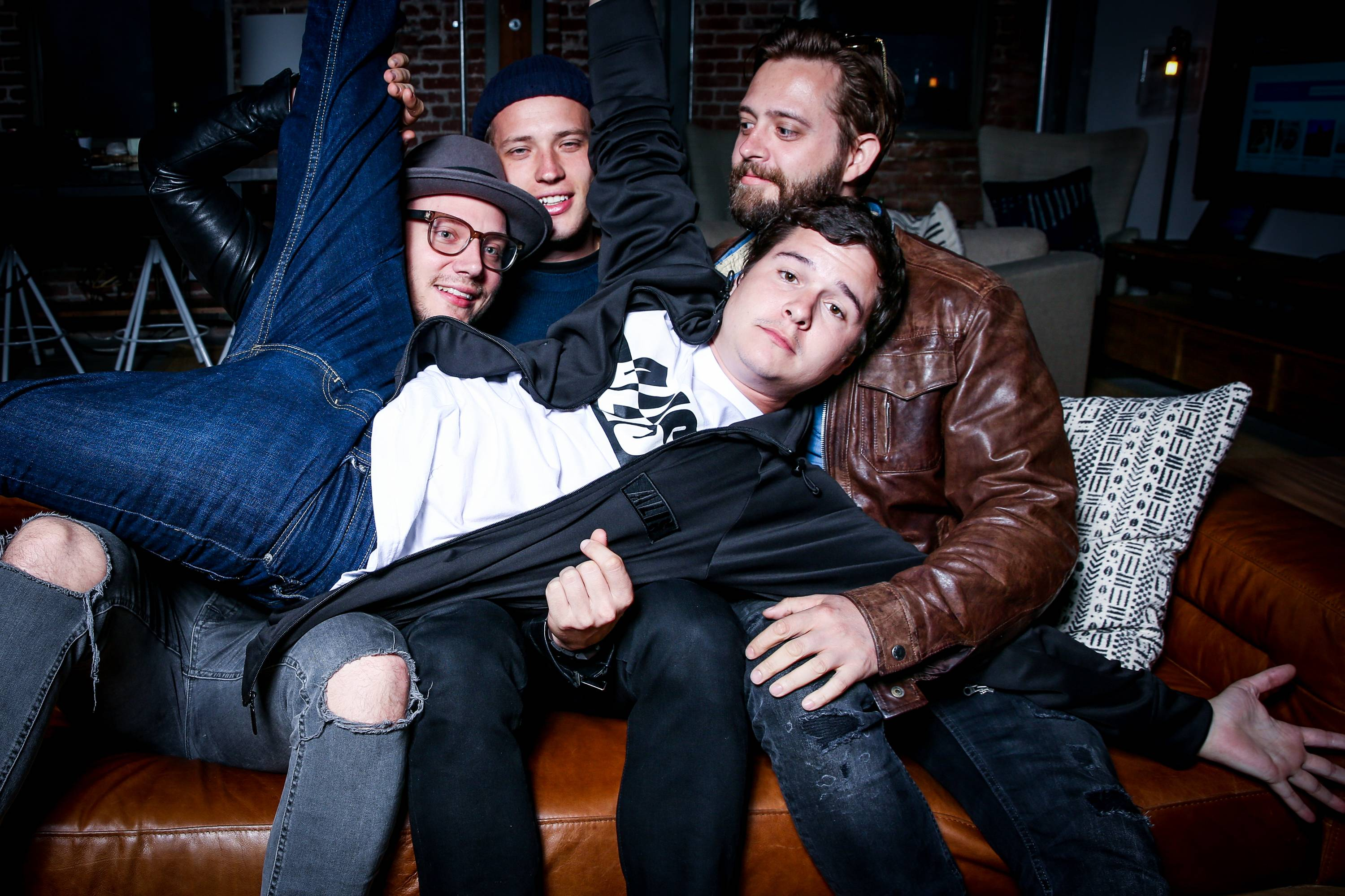 Lukas Graham -- Mark Falgren, left, Magnus Larsson, Lukas Graham Forchhammer and Kasper Daugaard -- will play a sold-out show at Chicago's Double Door Thursday, April 21.