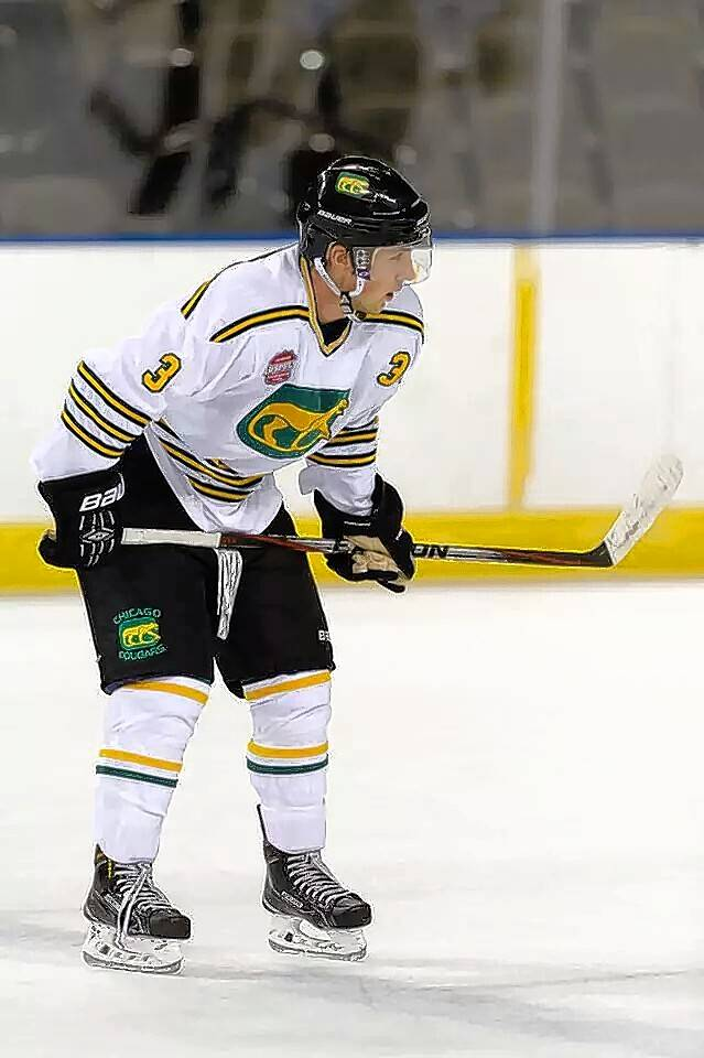 Chicago Cougars defenseman Matt Olson, 20, has returned to his native Minnesota to continue his recovery from an on-ice injury suffered Feb. 21 that left him paralyzed, his parents said Tuesday.