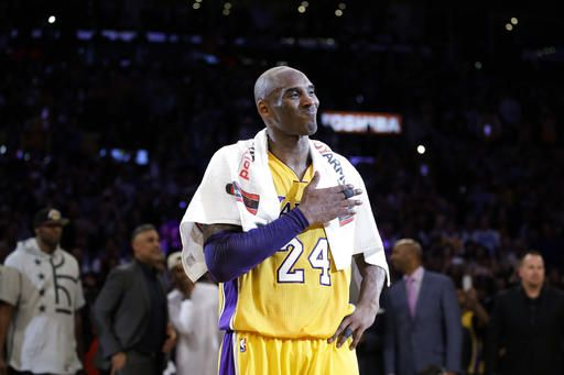 c13075258ef Los Angeles Lakers  Kobe Bryant pounds his chest after the last NBA  basketball game of