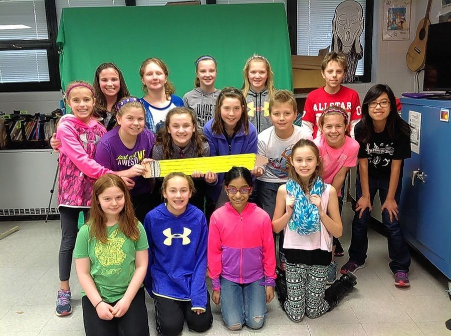 "Fifth graders at Dryden School in Arlington Heights made a film, ""Movement,"" that has been accepted in the Screen Test Student Fest showing of 36 films from around the world Saturday in Schaumburg. In their music video, an art lesson on motion is told through live action, animation and song."
