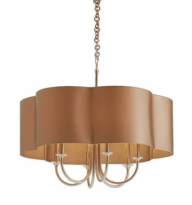 Contemporary chandeliers hang from a lengthy tradition:Courtesy of Arteriors Home The Rittenhouse Chandelier crosses the  categories of chandelier and pendant, with,Lighting