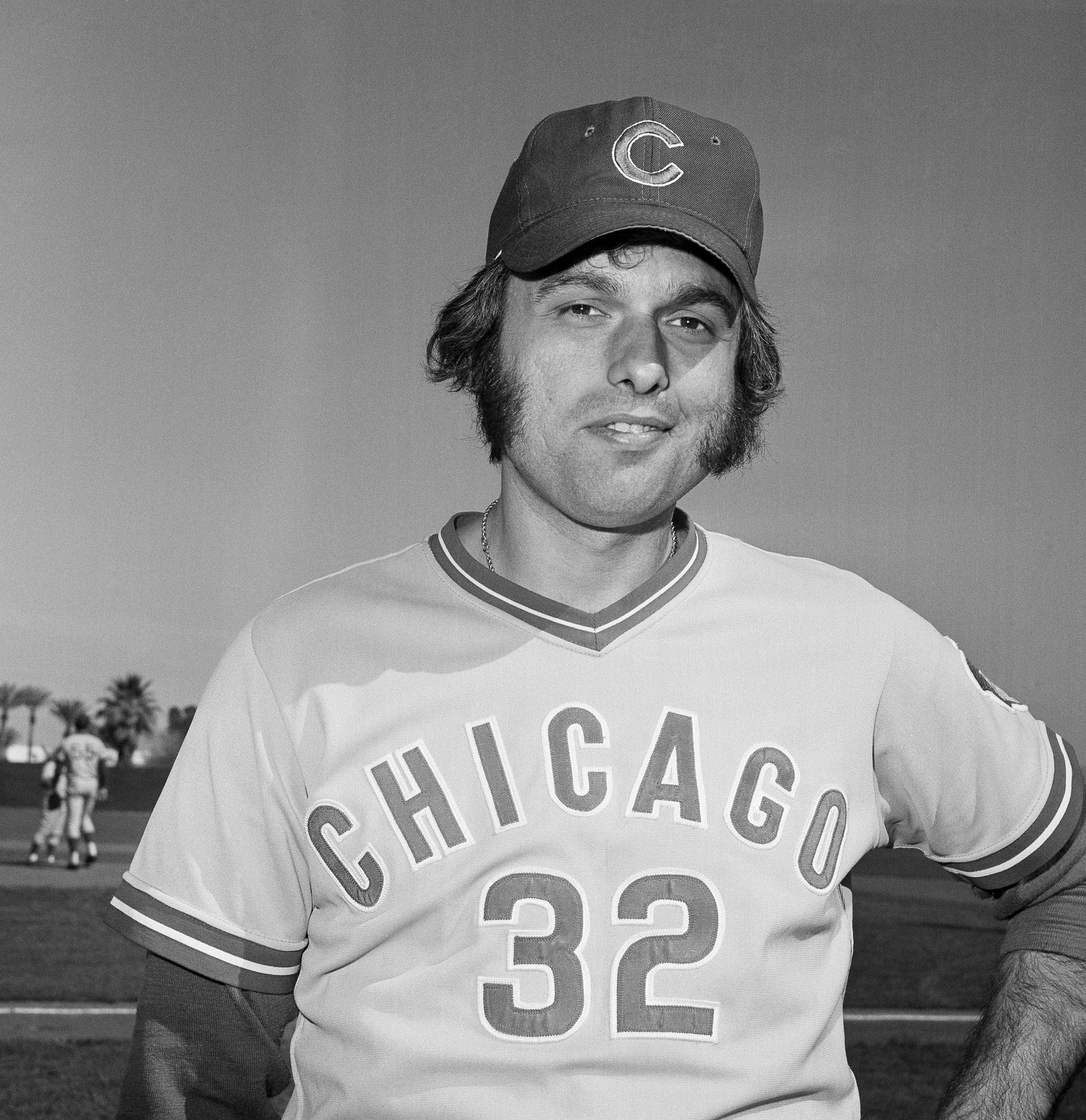 Chicago Cubs pitcher Milt Pappas on March 3, 1973, at spring training.
