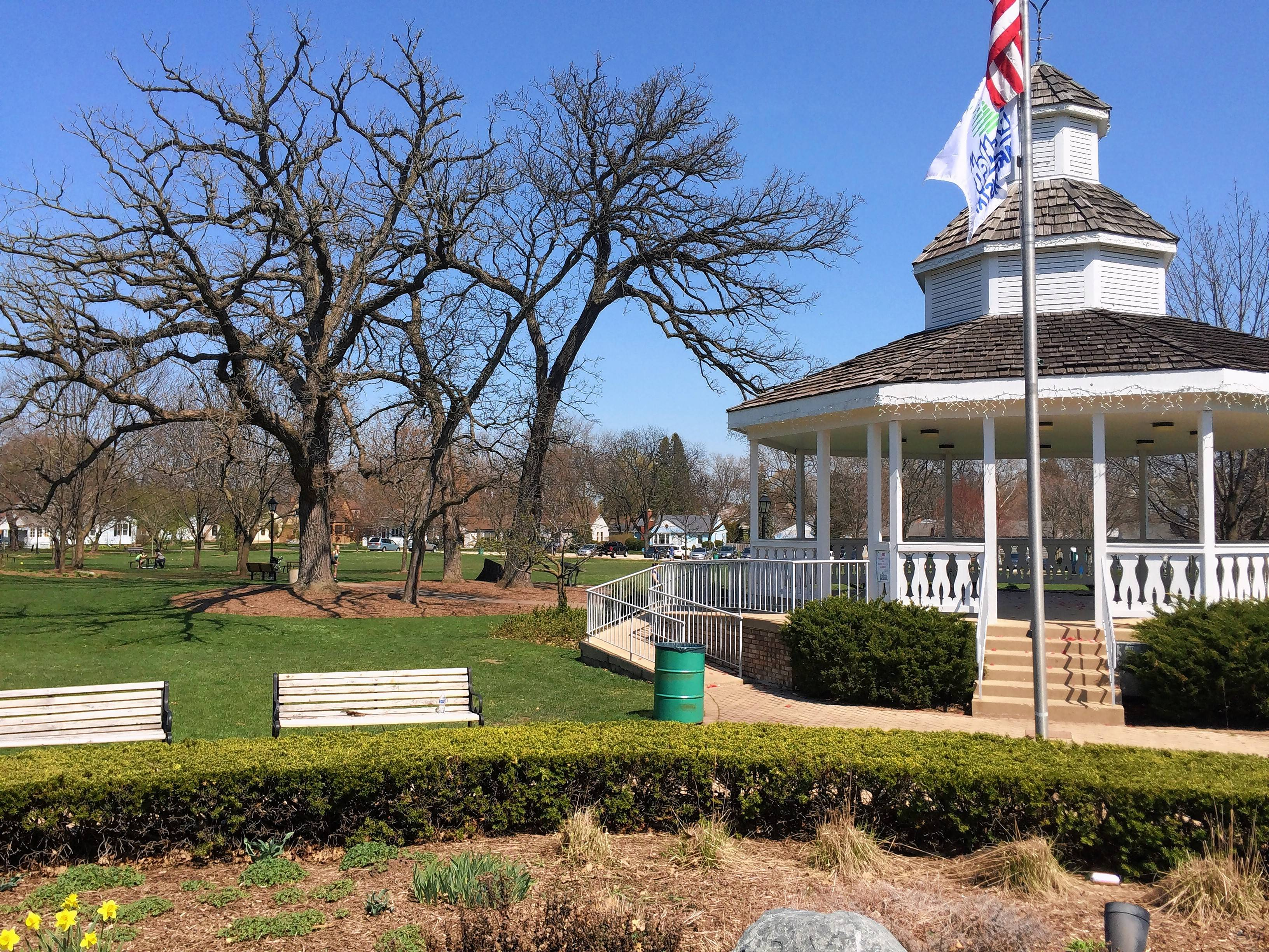 "Bartlett Park provides a scenic gateway into downtown. Take a closer look, and you'll spot a plaque recognizing former Mayor Bill ""Tik"" Tiknis, who also was a volunteer firefighter and Hanover Township supervisor."
