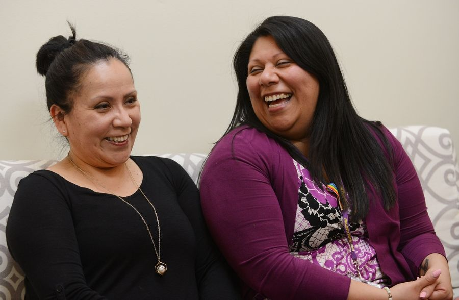 Illinois High School Counselor of the Year Gabriela Mendina, right, works at Rolling Meadows High School, and her mother, Balbina Hernandez, is a cafeteria worker at Elk Grove High School. Hernandez brought Mendina to the United States from Mexico as a child.