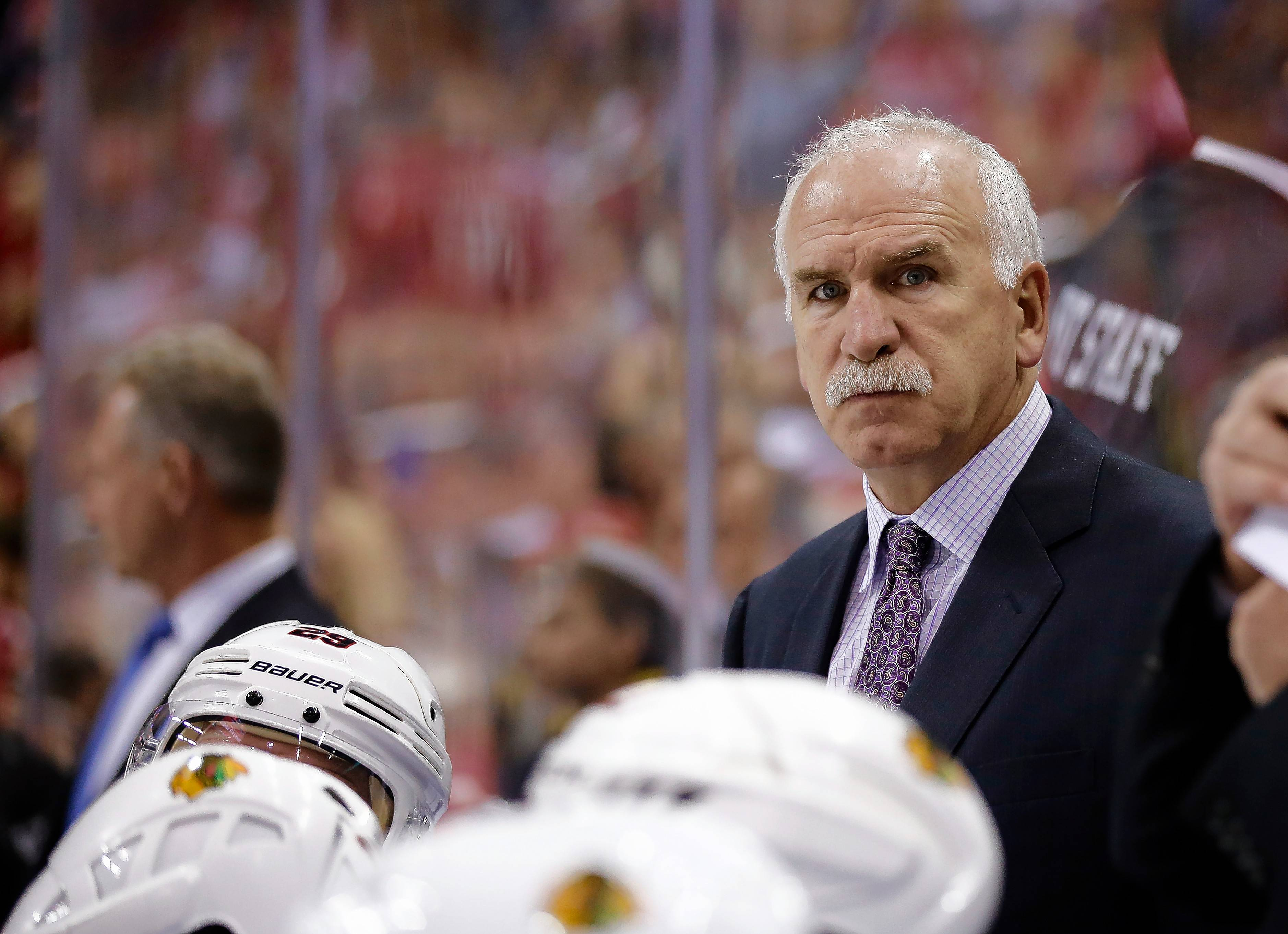 "Chicago Blackhawks head coach Joel Quenneville hopes his team uses the early playoff exit as motiviation for next season. ""Let's get something positive out of this (and try to) recoup some energy going into next year,"" he said Wednesday."