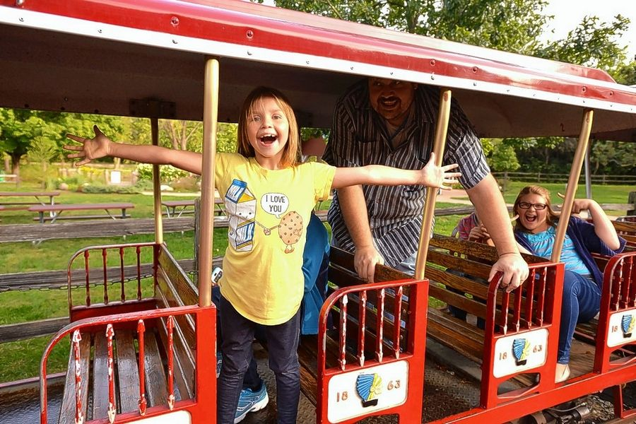 Hay wagon rides and train tours are just two of the many attractions that bring families to visit historic Blackberry Farm in Aurora.