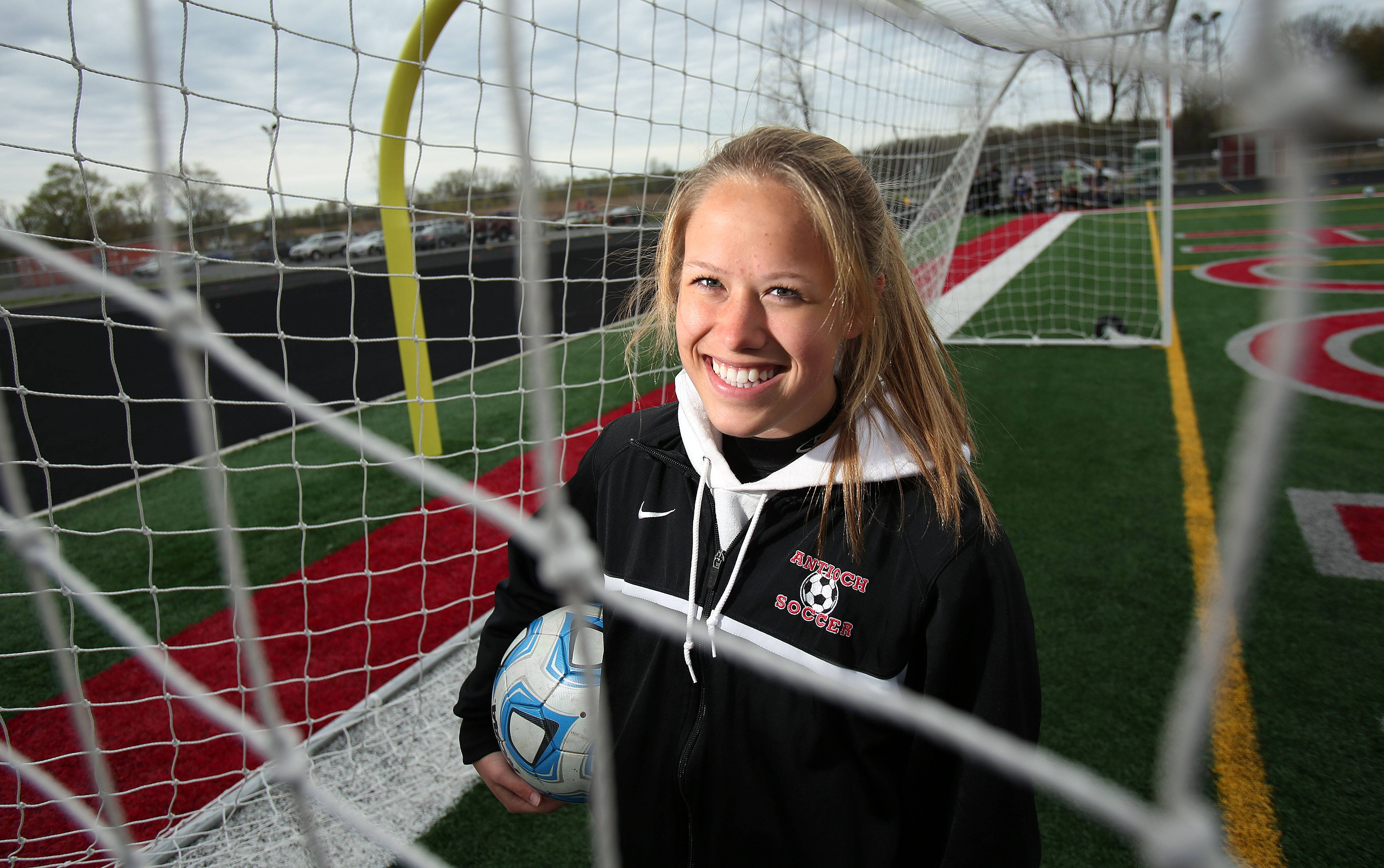 Antioch girls soccer player Courtney Coleman has already scored 22 goals in 19 games. She's on pace to break the school record.