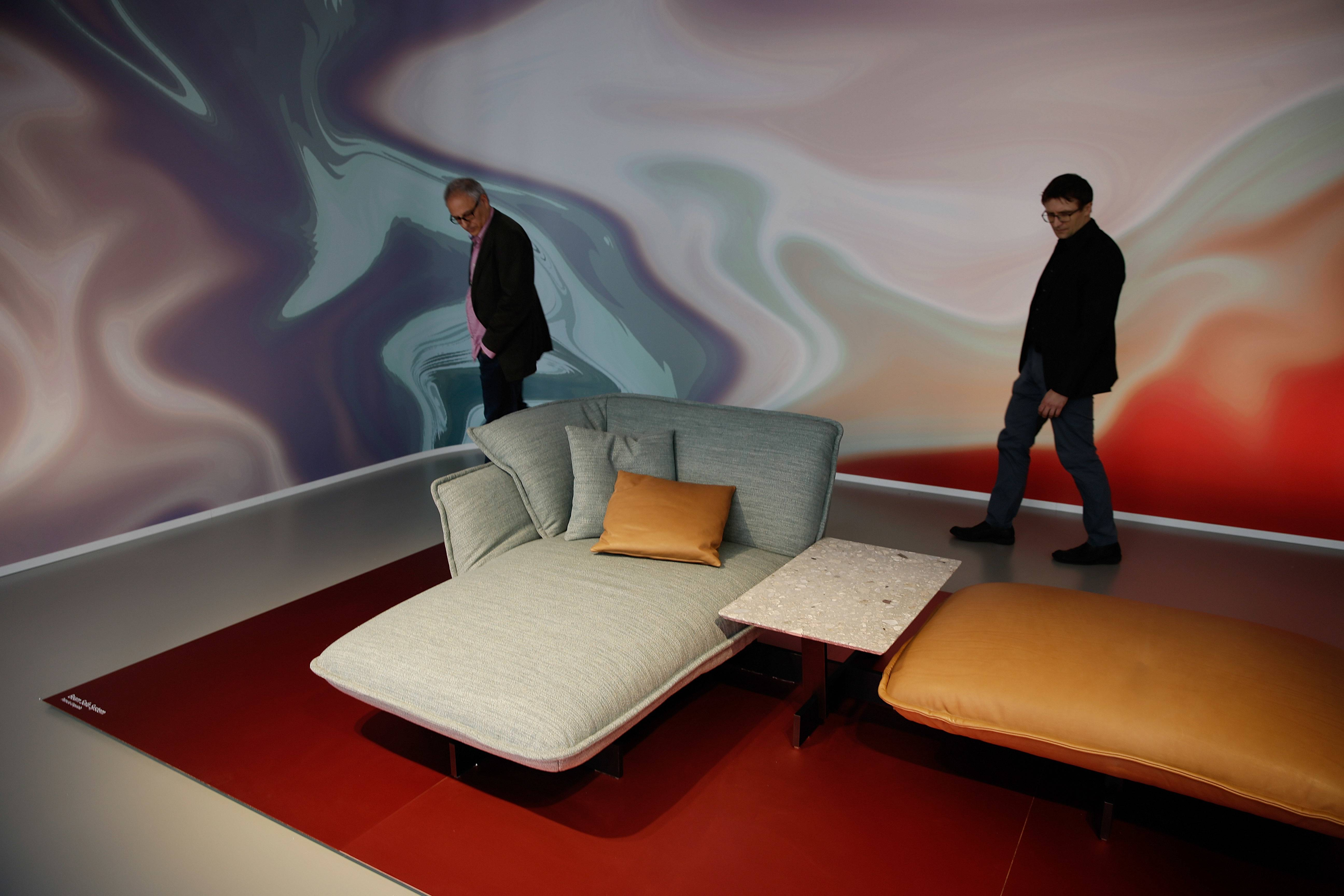 Visitors Look At Furniture In The Cassina Exhibit At This Yearu0027s Milan  Furniture Fair. Part 92