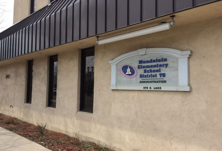The Mundelein Elementary District 75 office is on Route 45 in downtown Mundelein.