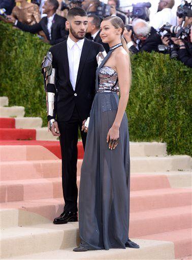 20b9867637f Zayn Malik, left, and Gigi Hadid arrive at The Metropolitan Museum of Art  Costume
