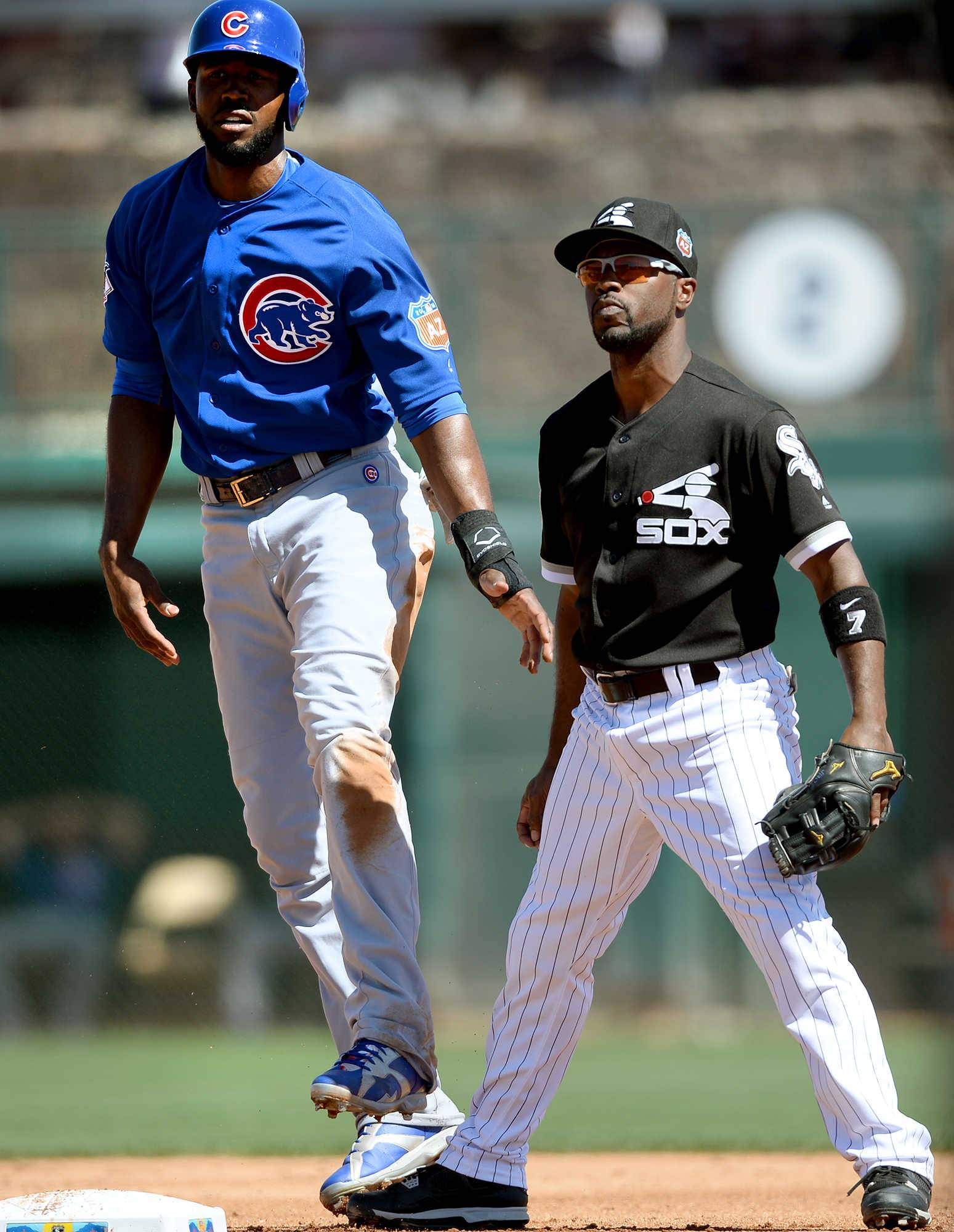 Could the Chicago Cubs' Dexter Fowler and the Chicago White Sox's Jimmy Rollins find themselves sharing a field in late October this year?