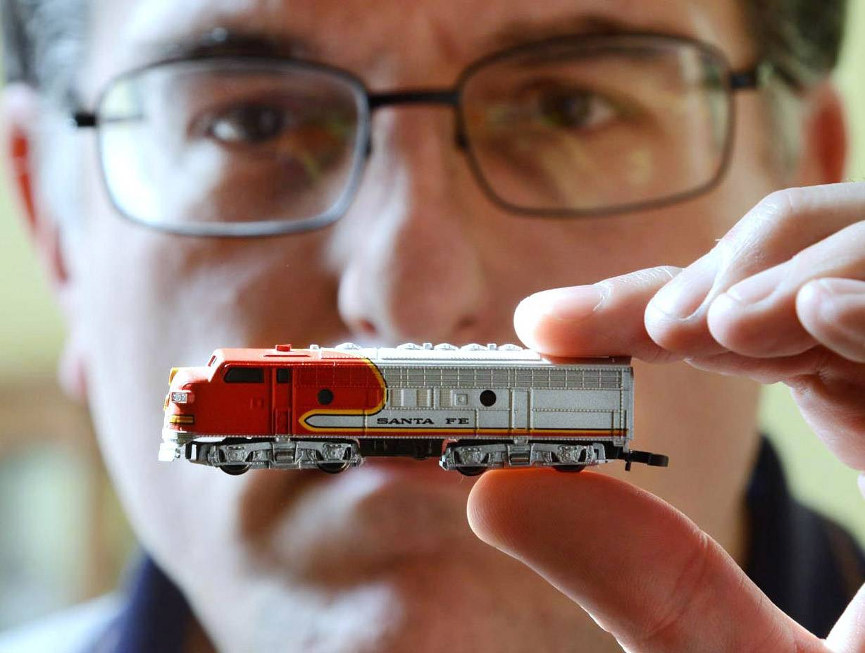 "Brian Williams of Crystal Lake is known as the ""pocket layout guy"" for his work with the smallest commercially produced electric trains in the world. He holds a Z gauge locomotive that is twice the size of the smallest trains he has."