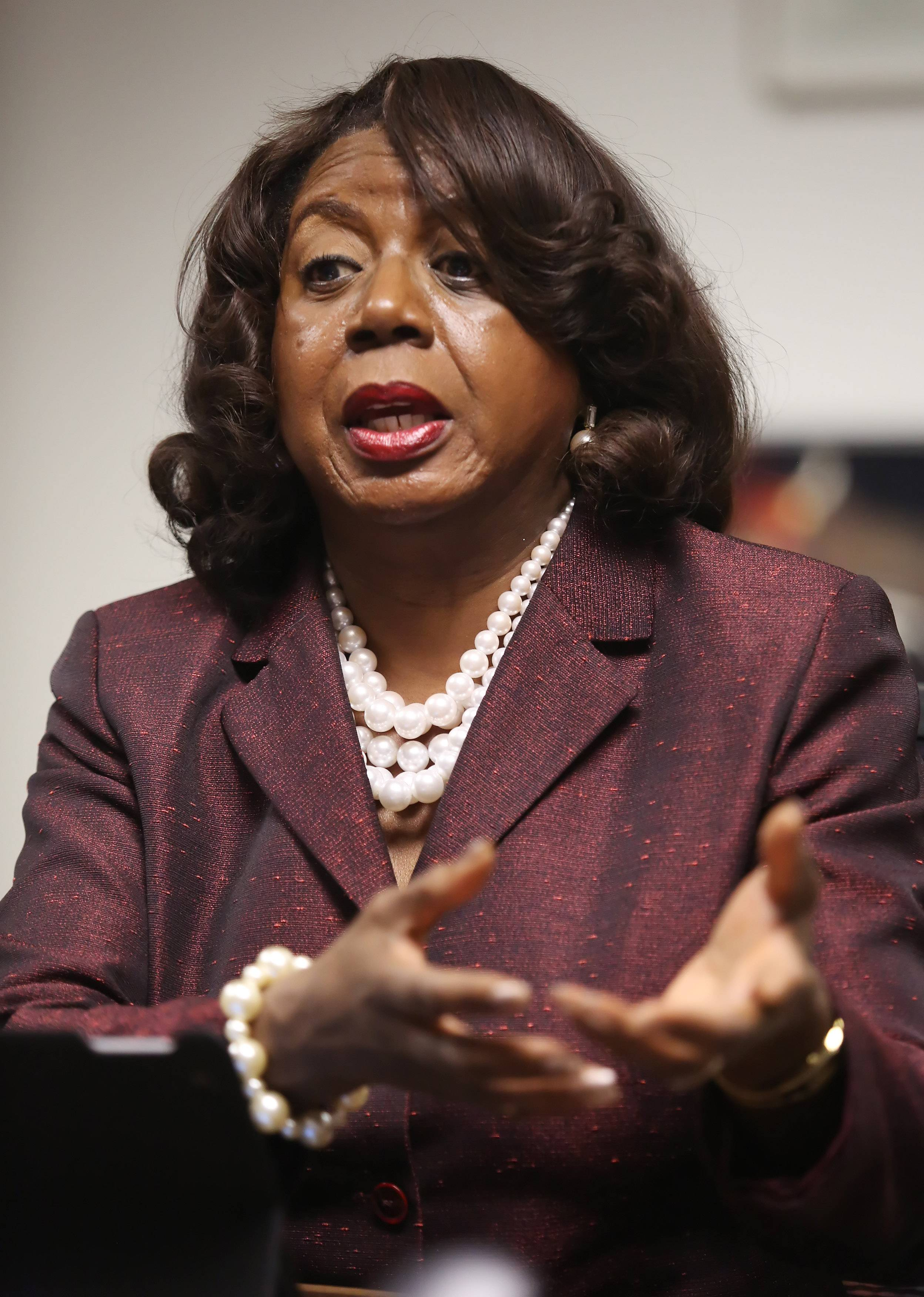 "Cook County Circuit Court Clerk Dorothy Brown is asking for a pay increase to close what she called a ""disparity gap"" between her compensation and what other county officials make."