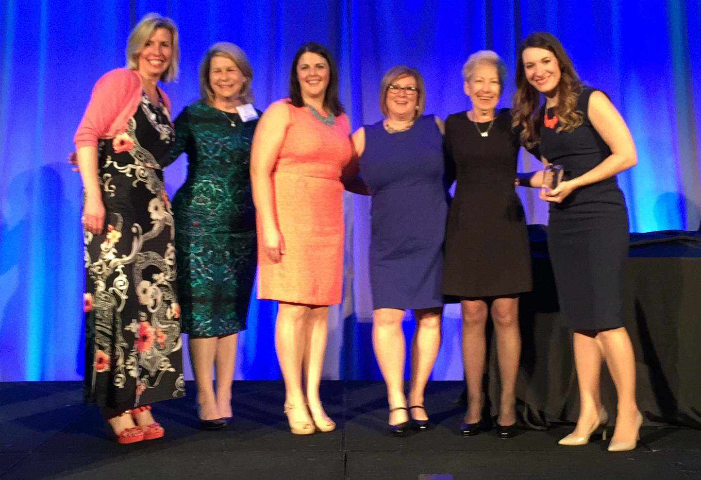 From left to right: Executive director Renee Garvin, marketing director Nancy Arnold, and marketing team members Michele Hilger, Kristin Drees, Mary Walsh and Kimberly Giudice.