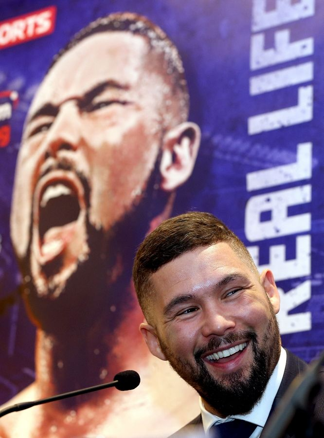d65f658d2 Tony Bellew of Britain speaks during a press conference before his fight  against Ilunga Makabu at
