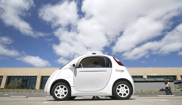 Google S New Self Driving Prototype Car Is Presented During A Demonstration At The Campus