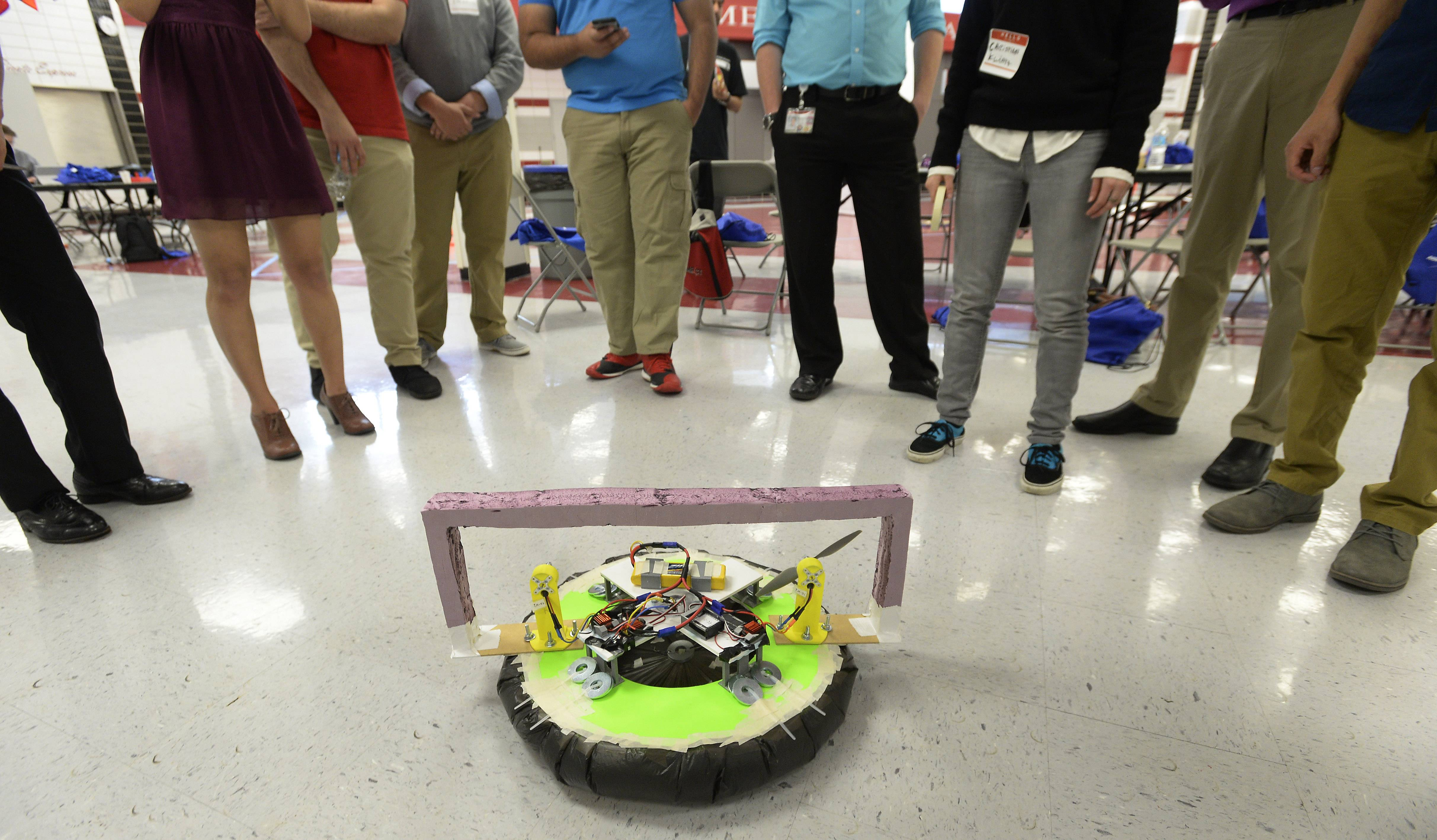 A hovercraft built by Palatine High School computer integrated manufacturing students is ready to compete Saturday at the 2016 High School Innovation Challenge sponsored by Northrop Grumman.