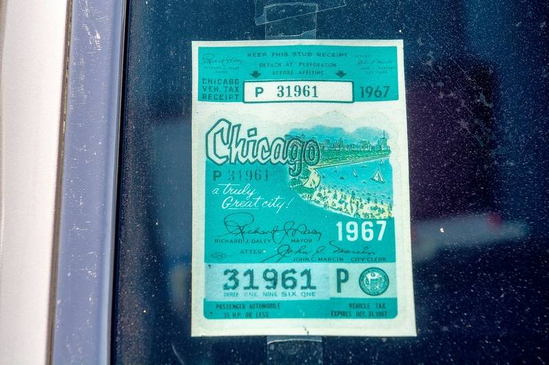 City stickers have been a part of chicago motoring heritage for decades