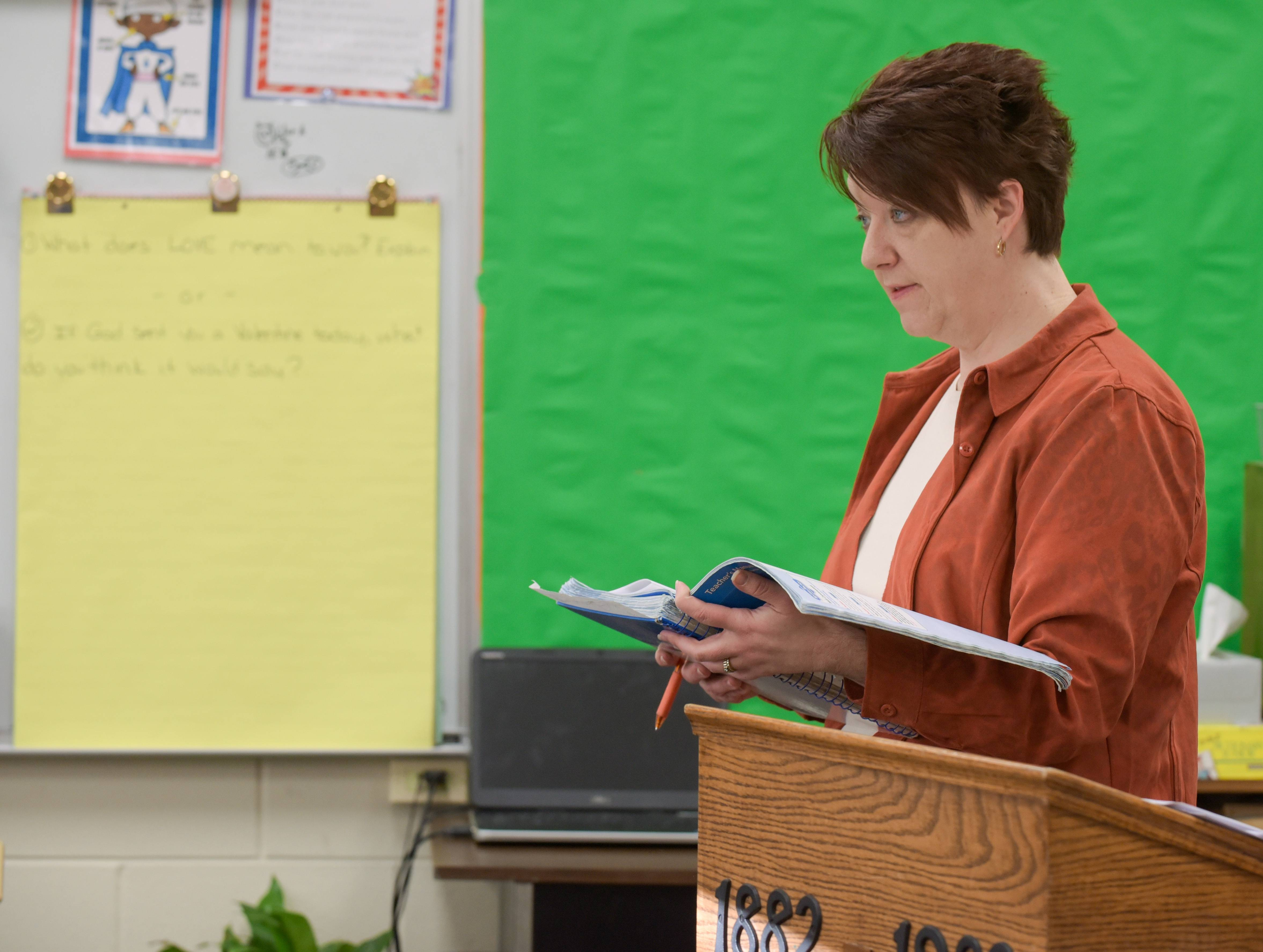 Penny Suydam teaches fifth grade at Immanuel Lutheran School in Batavia. Her dedication to them extends outside the classroom, prompting a fellow teacher to nominate her for a national award.