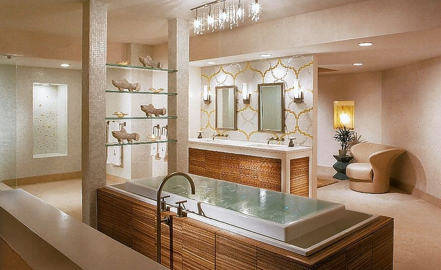 Creating an at-home getaway is the goal when transforming your bathroom into a spa.