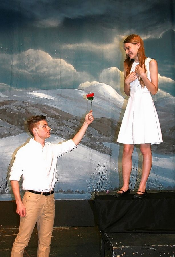 "Michael Schindlbeck and Evelea Solgos play the lead roles for three performances of ""Romeo and Juliet"" at the Prisco Community Center on May 21-22."