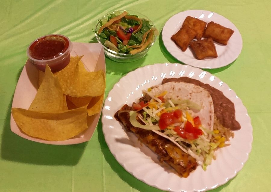First responders from the Dundee area were treated to Mexican fare from On the Border restaurant Tuesday at First Congregational Church's monthly Hilltop Supper.
