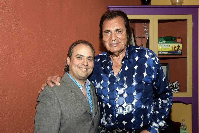 Entertainer Engelbert Humperdinck, right, shared some stories this week with Arcada Theatre owner Ron Onesti.