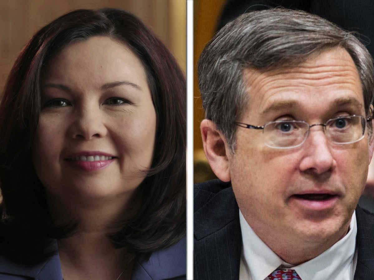 Recent developments in the hot U.S. Senate between Mark Kirk and Tammy Duckworth mean Republican presidential nominee Donald Trump and imprisoned former Democratic Gov. Rod Blagojevich are set to play a big role as the candidates try to define each other.