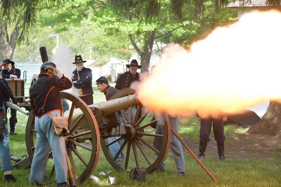 Hear the cannon roar at Civil War Days from May 21-22 at Naper Settlement!Donna DeFalco