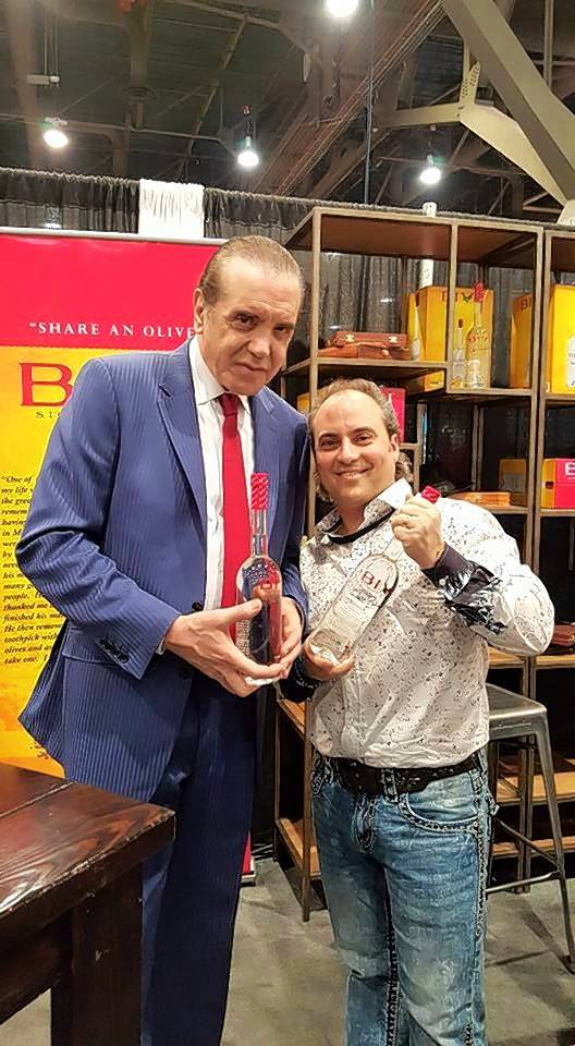 "Actor, writer and producer Chazz Palminteri, left, with Ron Onesti of the Arcada Theatre. Palminteri will bring his one-man adaptation of ""A Bronx Tale"" back to St. Charles."