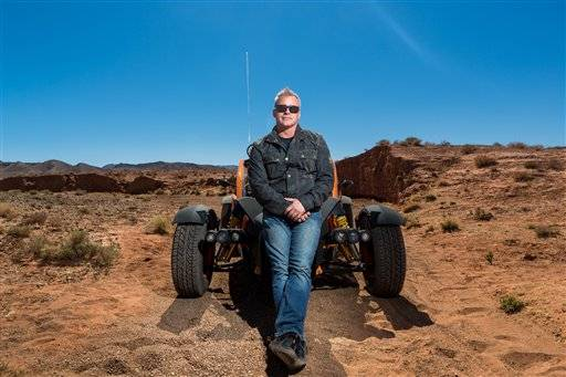 "In this image made available Tuesday May 24, 2016  from BBC America,  US actor and BBC Top Gear presenter Matt LeBlanc  poses in Morocco on March 10, 2016 .  Top Gear� doesn't do understatement. If it were a car, the BBC's hit auto show would be a flashy, precision-tooled racer. Co-host Chris Evans calls it ""a car-show nuclear bomb�  and it returns to the screen facing the fallout of former host Jeremy Clarkson's explosive exit. (Roderick Fountain/BBC America via AP)"