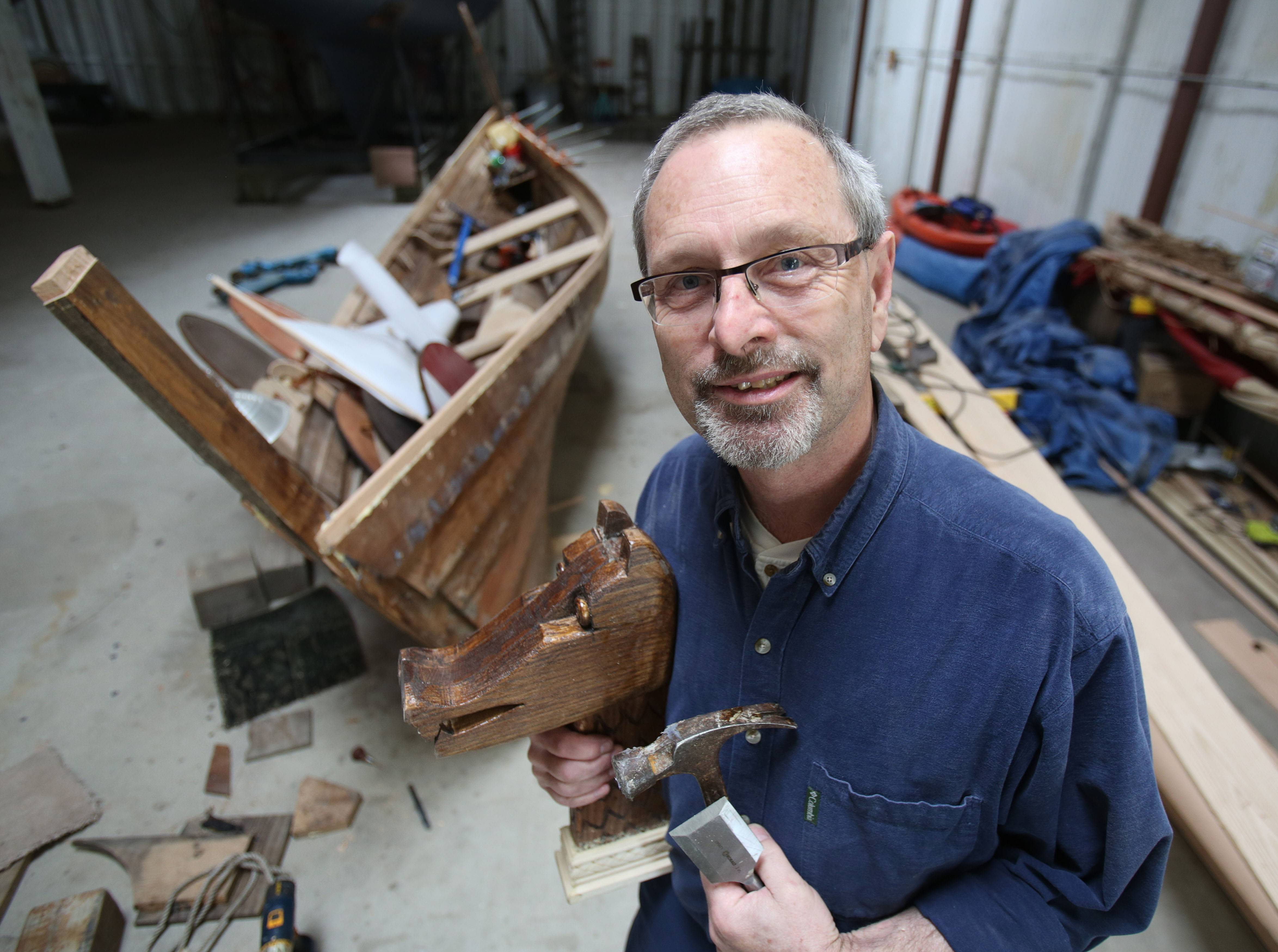 How to fill those retirement years? Libertyville man builds Viking warship