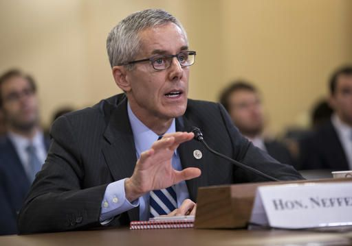 Transportation Security Administration (TSA) chief Peter Neffenger testifies on Capitol Hill in Washington, Wednesday, May 25, 2016, before the House Homeland Security Committee which is looking for answers on how to balance security with long lines at airport checkpoints.
