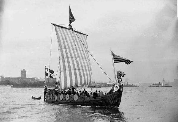 A Viking Ship Now Dry Docked In Geneva Is Seen Here 1893 Arriving