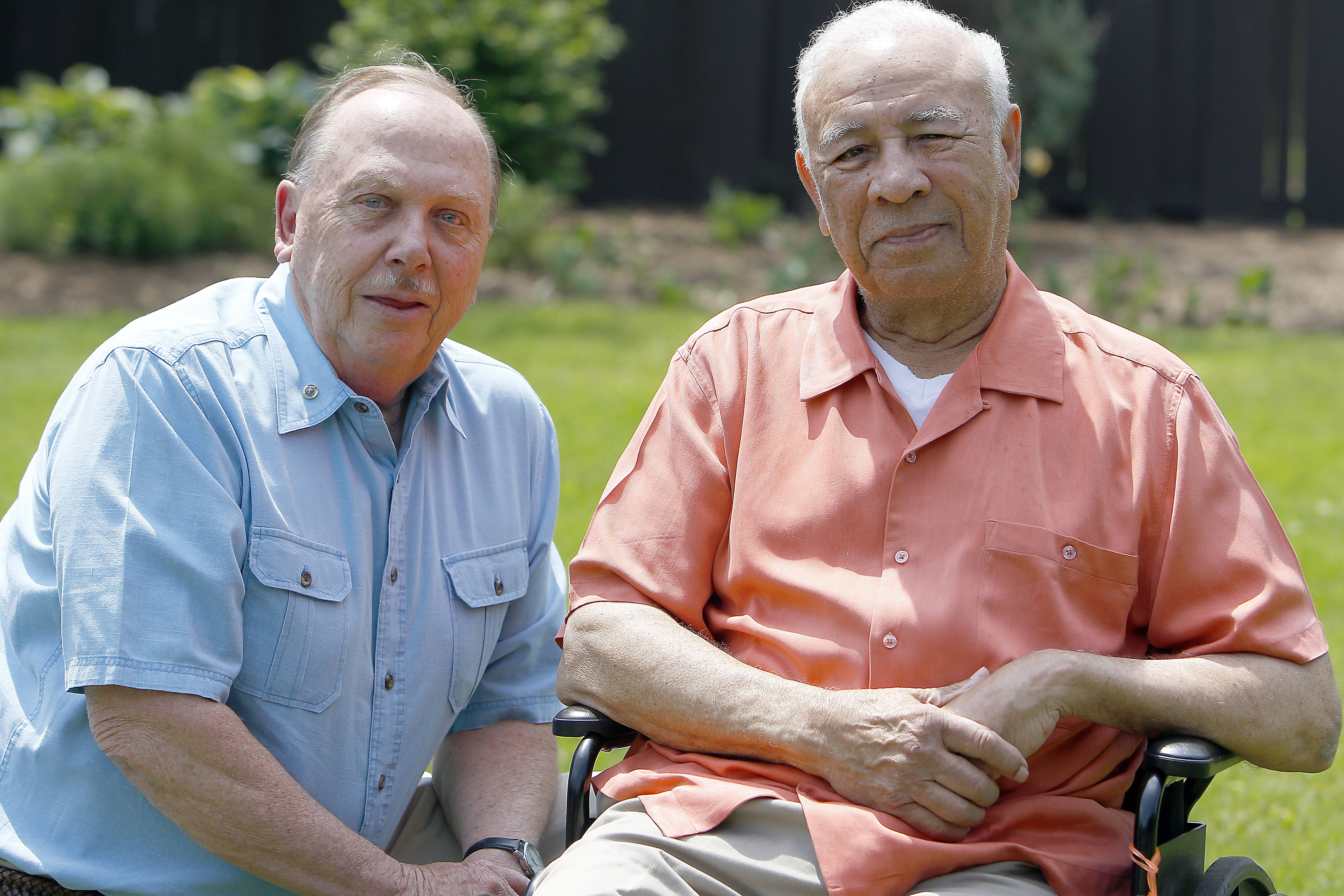 Floyd Brown, right, of Elgin and Tom Petersen of Streamwood, will be inducted Friday into WGN Radio's Walk of Fame.