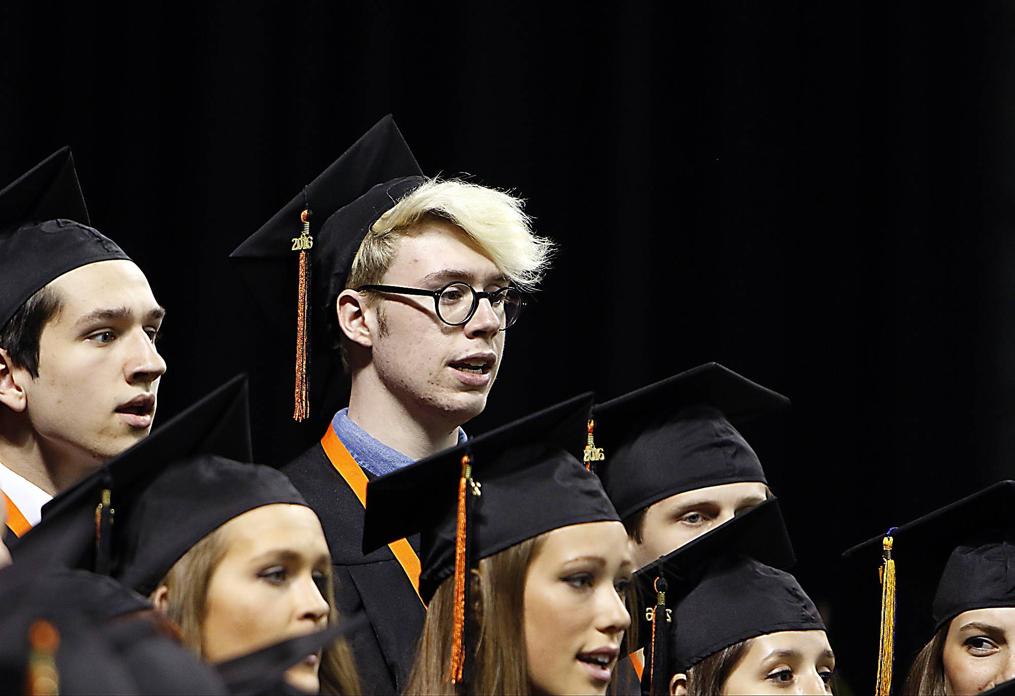 Images from the St. Charles East High School graduation ceremonies at the Sears Centre in Hoffman Estates on Sunday, May 29, 2016.