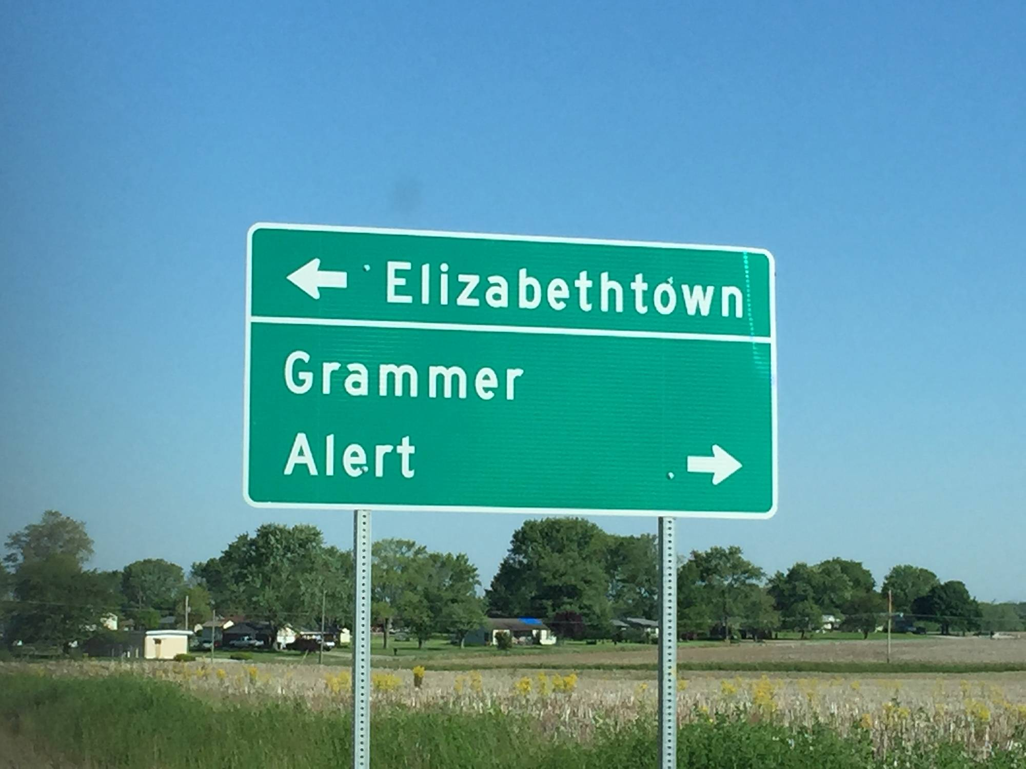 Grammer and Alert are two rural communities in southern Indiana.
