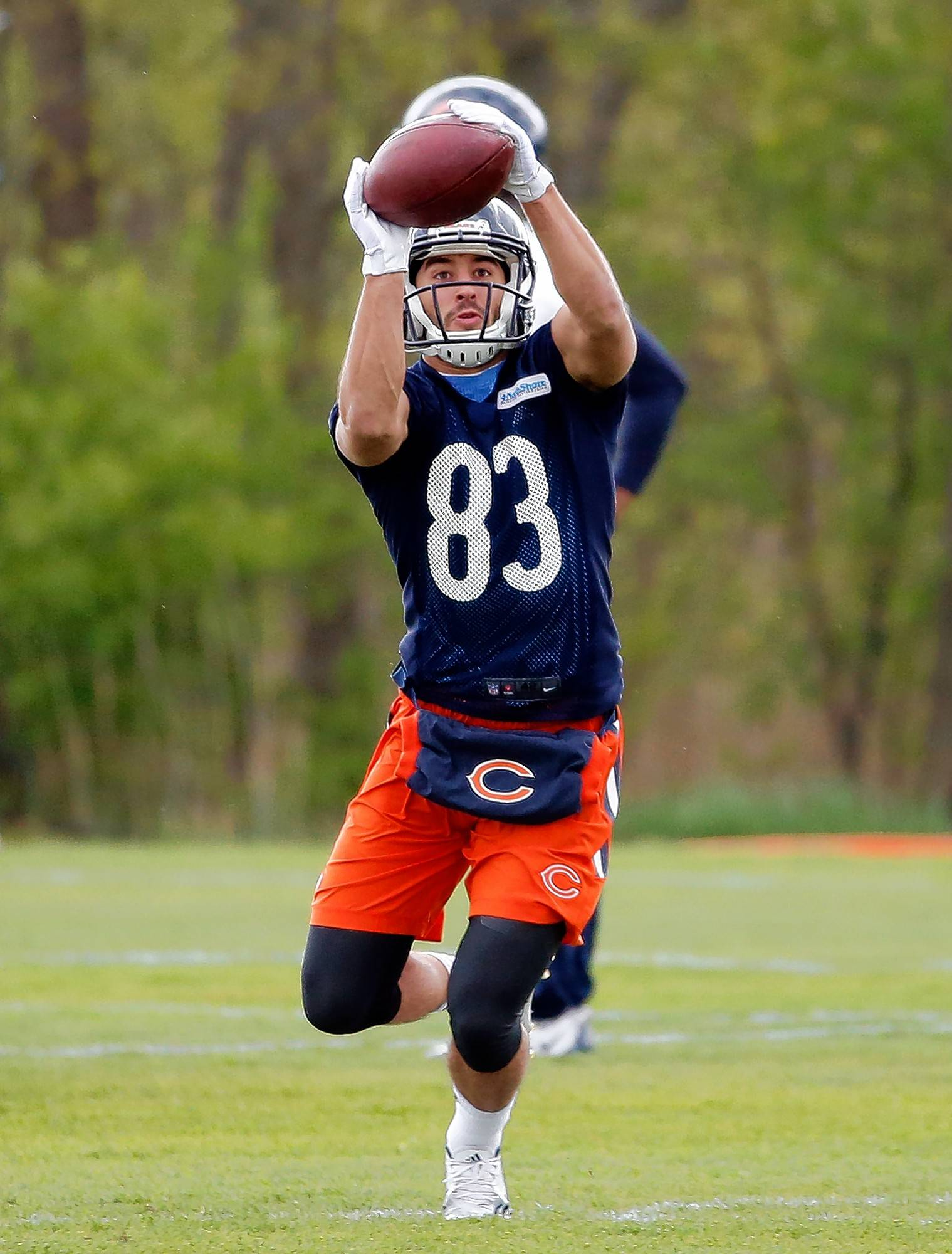 Chicago Bears wide receiver Daniel Braverman catches a ball during the team's NFL rookie minicamp football practice Saturday, May 14, 2016, in Lake Forest, Ill. (AP Photo/Nam Y. Huh)
