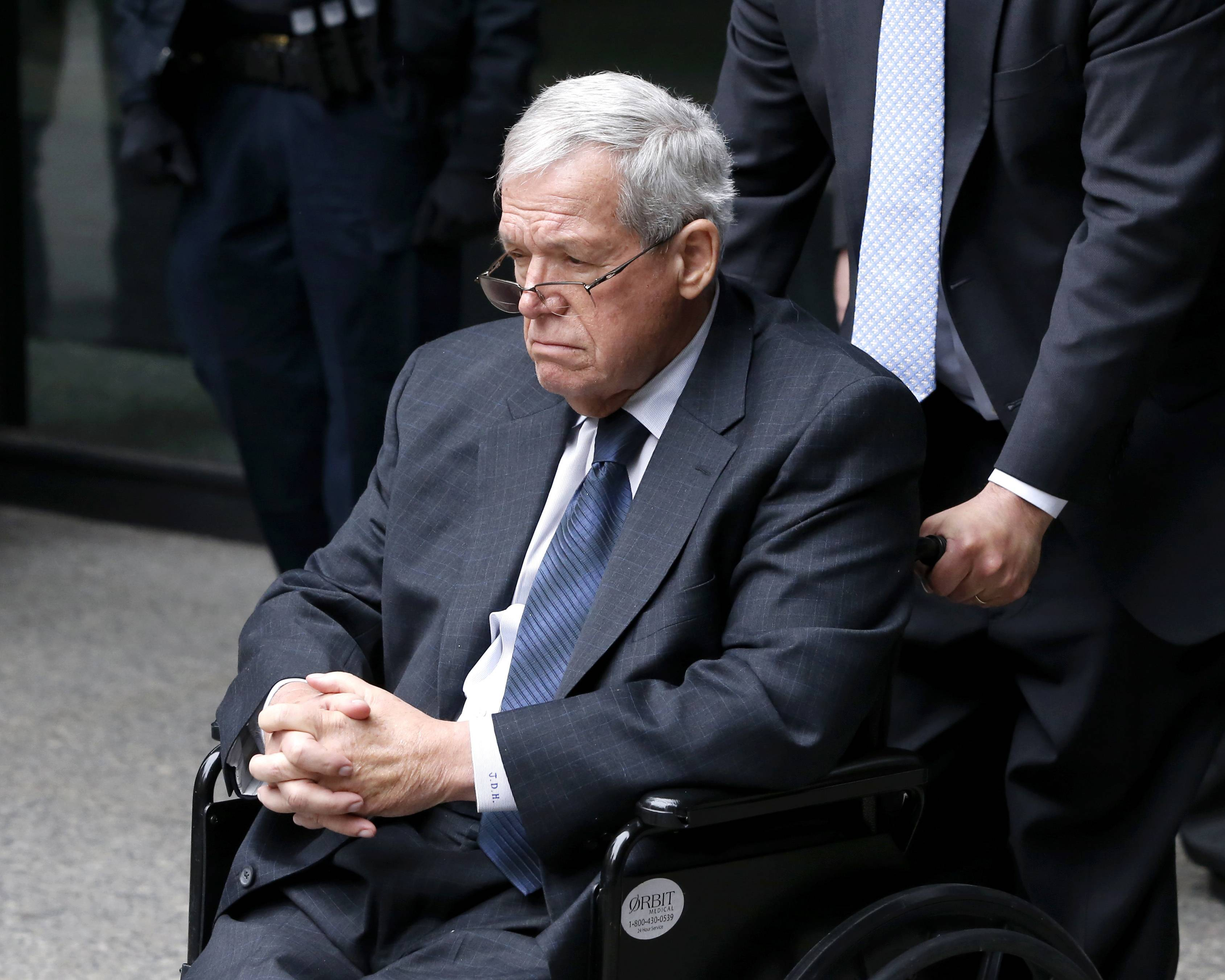 Former House Speaker Dennis Hastert departs the federal courthouse in Chicago last month after his sentencing on federal banking charges.