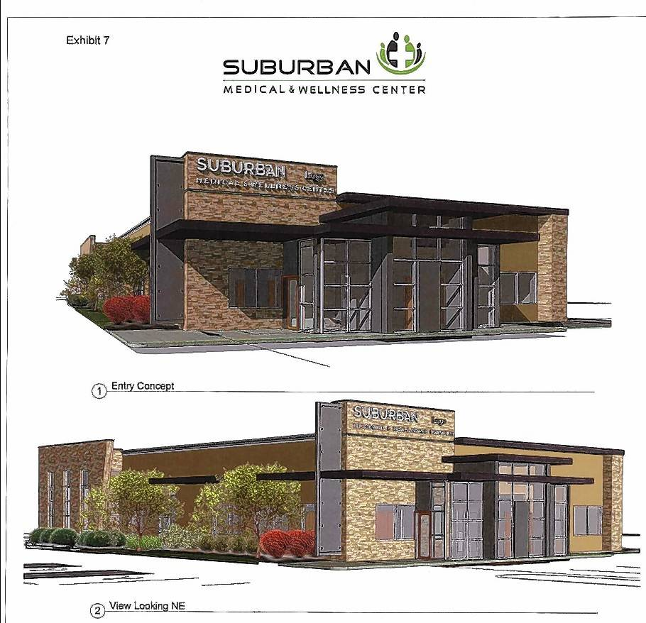 Suburban Medical and Wellness, currently based in Schaumburg, has proposed a 6,120-square-foot medical center in a vacant Hanover Park building at 1900 Army Trail Road. Once completed, the medical center would offer dental services, physical therapy, a small medical lab and general medical care.