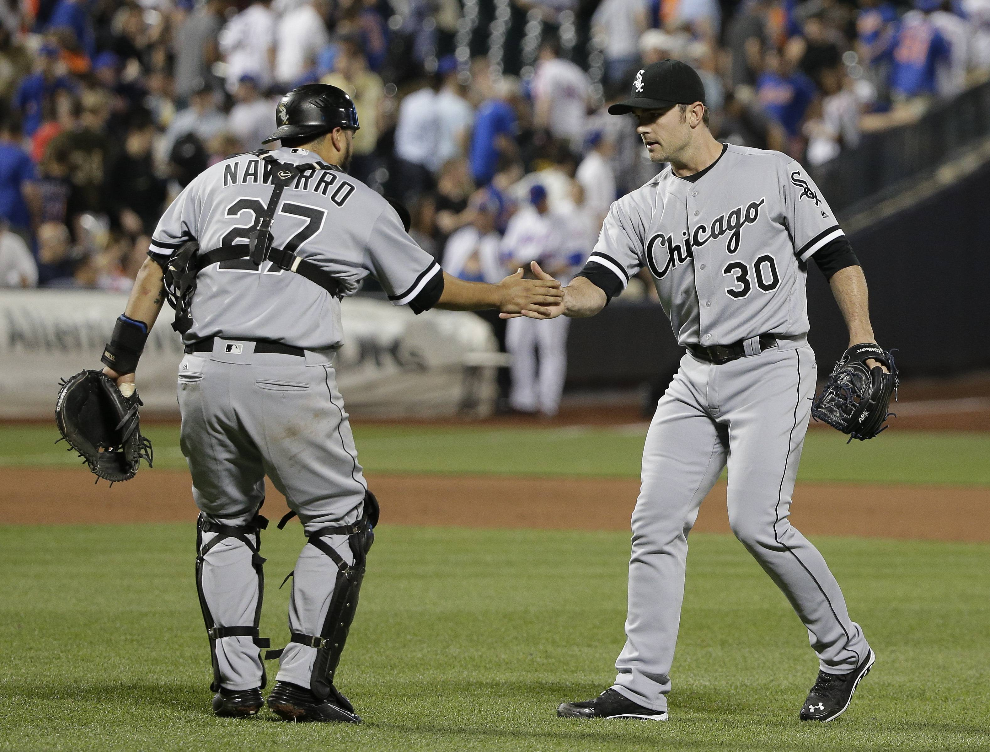 Tyler Saladino hit a go-ahead homer in the eighth inning and the White Sox rallied from an early four-run deficit, stopping a seven-game losing streak Tuesday night with a 6-4 victory over the New York Mets.