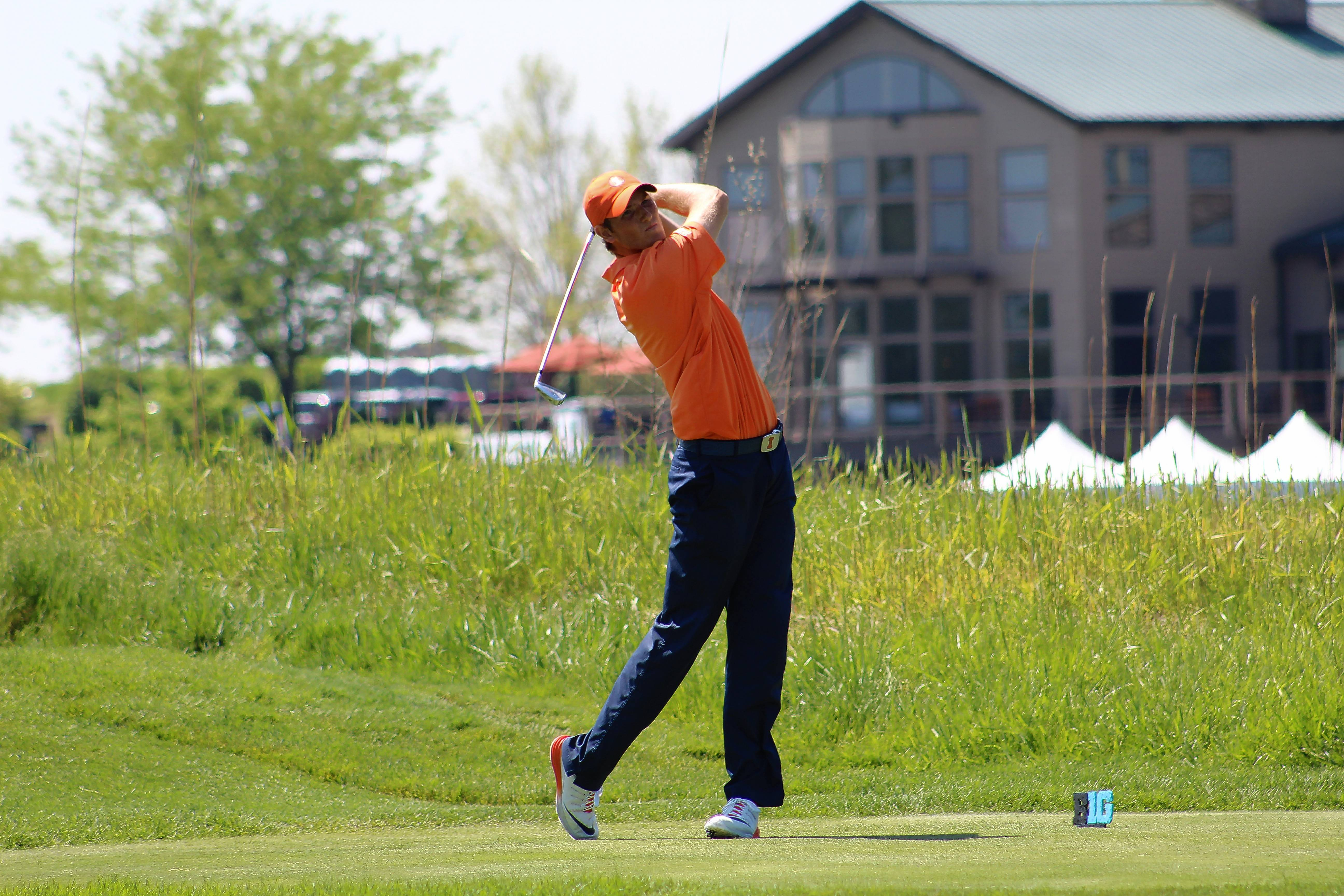 Charlie Danielson helped the Illini golf team finish second in the NCAA stroke-play tournament. But Illinois' season came to an end for the second straight year in the semifinals of the national championship.