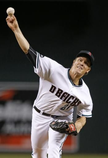 Arizona Diamondbacks' Zack Greinke throws a pitch during the first inning of a baseball game against the Tampa Bay Rays on Tuesday, June 7, 2016, in Phoenix.