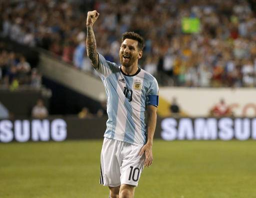 c6dfd3f84 Argentina s Lionel Messi (10) celebrates after scoring a goal against Panama  during a Copa