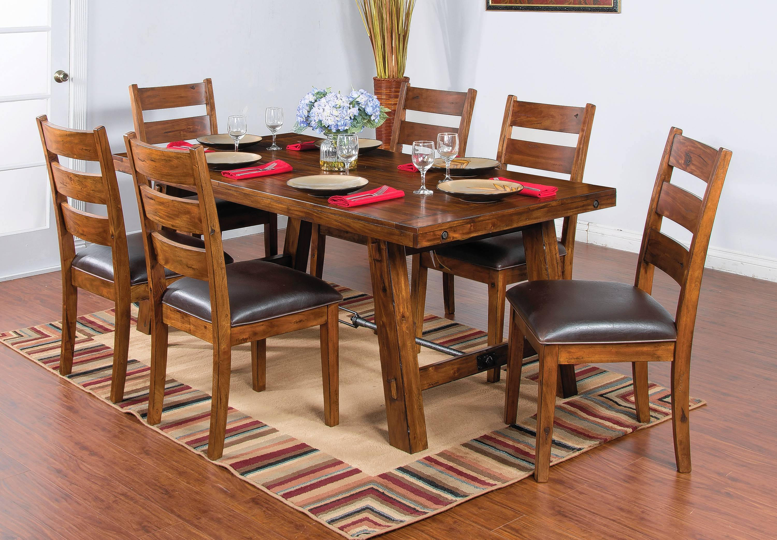 For wood furniture like this dining set, warm walnuts are timeless pieces.