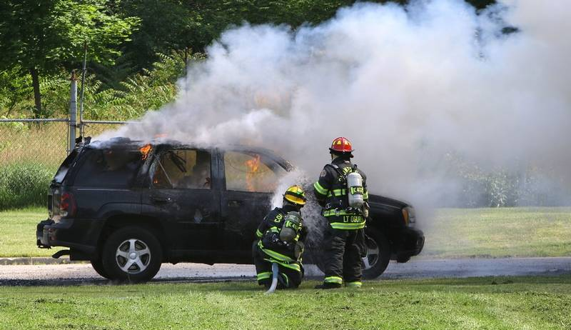 No One Hurt In Vernon Hills Car Fire