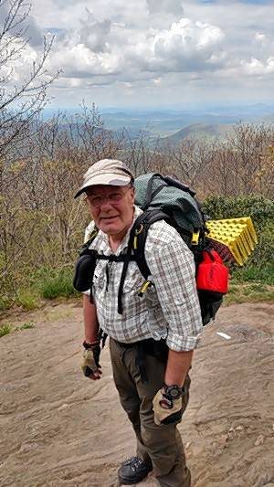 Bill Spence of Carpentersville, a heart transplant survivor, hiked the Appalachian Trail for a mere three days in late April before he got a knee injury. He wants to try it again next year.