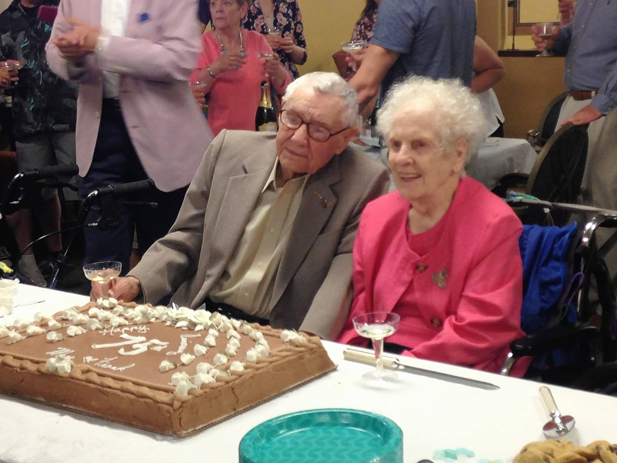 Frank and Mary Andrews, of Des Plaines, celebrated their 75th wedding anniversary with family and friends this month.